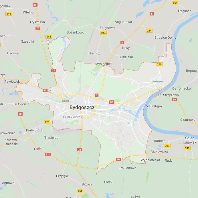 Obszar dostaw Elite-Diet - Bydgoszcz